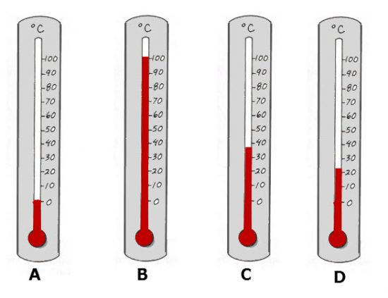 Celsius Thermometer Reading Exercise